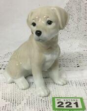 "Porcelain Dog Golden Puppy Figurine  / Ornament 5.5"" Tall"