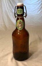 VTG Grolsch Amber Brown Lager Beer Bottle Porcelain Swing Top Beer Bottle Glass