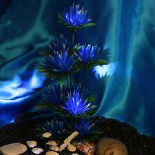 Aquarium Deko künstliche Pflanze Blumen Aquarien Aquariumsdeko Fisch Plants NEU~