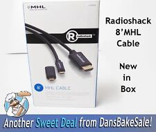 Radioshack MHL 8 Foot Mobile Hi Def Cable Supports Full HD 1080P New in Box