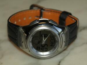 RETRO CASIO Vintage AQ 160 Men's Watch ILLUMINATOR World Time ANALOG Digital LCD