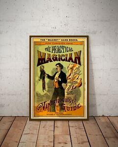 1878 Antique Magic POSTER! (up to 24 x 36) - Wizard - Magician - Vintage - Art