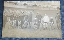 CYCLISME course cycliste carte photo Paris vélodrome Buffalo coureurs animation