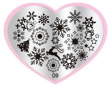 Christmas Xmas Manicure Template Nail Art Printing Image Polish Stamp Plates R09
