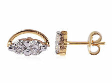 Pave 0.22 Cts Round Brilliant Cut Natural Diamonds Stud Earrings In 18Carat Gold