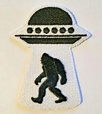 Bigfoot Sasquatch Ufo Patch Applique Embellishment Iron on & Sew