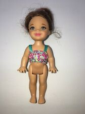 RARE 2008 Barbie I CAN BE A SWIM INSTRUCTOR Set Kelly Brunette Doll w/Green Eyes