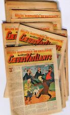 Coeurs Vaillants 1946 année complète. Lot des n°1 à 22. 19 mai au 29 décembre.