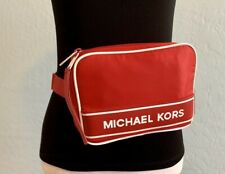 🎁MK SALE🎁NEW Michael Kors MK Fanny Pack Belt Bag Shoulder Bag Red