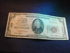 1929 $20 PENNSYLVANIA NAT'L BANK & TRUST OF POTTSVILLE PA NATIONAL NOTE!   #7