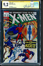 X-MEN #63 CGC 9.2 WHITE SS STAN LEE GREAT SIGNATURE AND PLACEMENT #1227639008