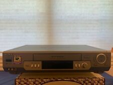 Sony Slv-N80 Vhs Vcr Great Used Condition Metallic Gray