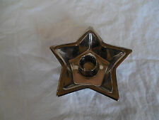 Mercury glass star shaped candlestick holder candle holder