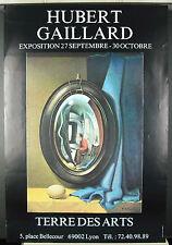 Hubert GAILLARD (1912-2003) Lyon Terre des arts Affiche d'exposition