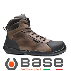 Brown Black Safety boots work Anti odor metal free 200 joule toe cap Base B0610
