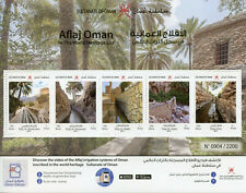 Oman Landscapes Stamps 2019 MNH Aflaj Irrigation World Heritage Trees 5v M/S