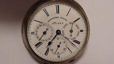 J.BALMER-NICOLET Silber Taschenuhr mit Datum / Kalender  um 1900 RAR !