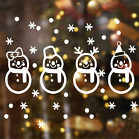 New Christmas Vinyl Wall Sticker Snowman Snowflake Decals Home Window Decor