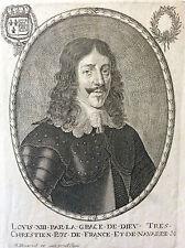 Louis XIII Roi de France et de Navarre Louis le Juste Balthazar MONTCORNET XVIIe