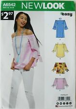 New Look 6542 Misses Tops Sewing Pattern Sz 10-18