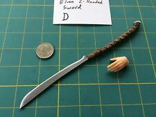 """""""Elven 2-Handed Sword D"""" 1:6 Scale Custom Steel Miniature By Auret"""