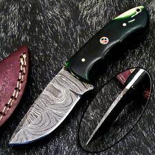 """Handmade Skinning Knife - Full Tang Damascus Steel Blade 6.0"""" - RESIN - PS-968"""