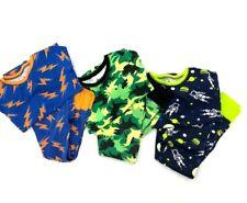 Circo Pajamas Lot of 3 Sets Blue Lightning Dinosaurs Space PJs Pajamas Sz 8 GUC