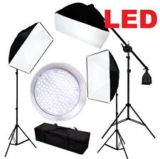 Pro 3-head Continuous LED Lighting Kit 432PCS 5500K Softbox boom arm stand kit