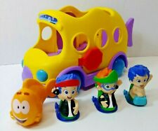 Fisher Price Bubble Guppies Bus Gil Figures Lot