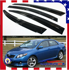JDM MUGEN 3D STYLE SMOKED WINDOW VISOR VENT SHADE FOR 2009-2013 TOYOTA COROLLA