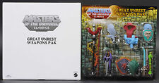 2012 Great Unrest Weapons Pak MOTU Masters of the Universe Classics MOC