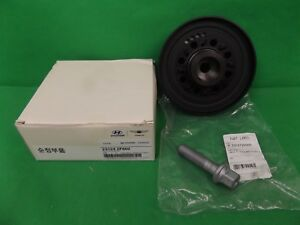 GENUINE HYUNDAI SANTA FE SUV CM & DM SERIES 2.2L TD HARMONIC BALANCER + BOLT SET