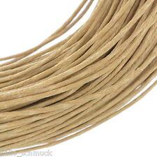 HS 80M Hellkaffeebraun Wax Wachs String/Schnur/Garn für Halskette/Armband