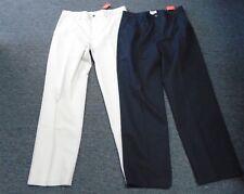 ST. JOHN'S BAY Lot Of 2 Beige Black Cotton Flat Front Khaki Pants 34x32 DD0662