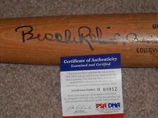 BROOKS ROBINSON AUTOGRAPHED VINTAGE L.S. BAT GAME USED???? PSA # H00012