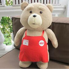 46CM TED Movie Teddy Bear Shirt Plush Toy Soft Stuffed Animal Doll Pillow NEW