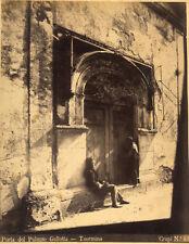 Photo Crupi Albuminé Taormina Palazzo Gullota Vers 1870