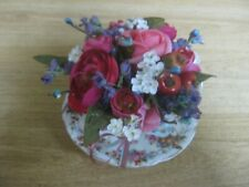Decorative Gift Artificial Flower Arrangement in Small Vintage Teacup/Saucer