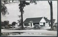Bradford Vermont Route 5 Bill's Restaurant Genuine Photo Postcard RPPC