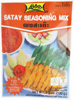 Lobo Satay Seasoning & Sauce Mix 3.5 oz (100g) No Preservatives Made in Thailand