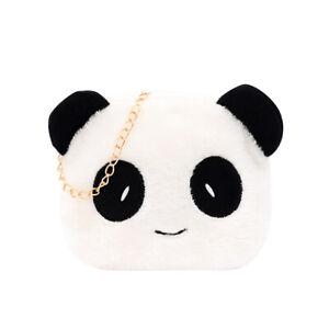 Cute Plush Panda Crossbody Handbag Women Girl Chain Shoulder Bags (Style 3)