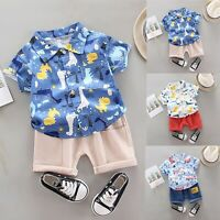 Toddler Infant Baby Boys Clothes Set Cartoon T-shirt Tops+Shorts Summer Outfits