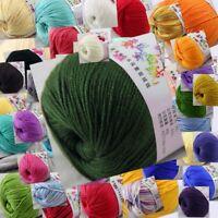 Sale 1Ball x 50g Cashmere Silk Wool Children Baby Hand Knitting Crochet Yarn