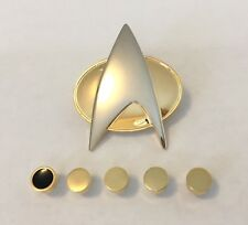 Star Trek The Next Generation Comunicator Pin & Rank Pin Set