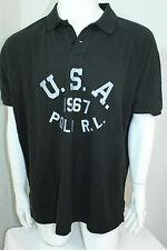 Polo Ralph Lauren Men's Custom-Fit USA Mesh Polo Black Sz XLarge NWT
