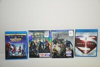 Superman Man of Steel Guardians of the Galaxy Xmen Transformers Blu-Ray Lot of 4