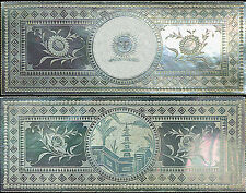 Chinese Mother of Pearl Rare MINT Game Chip CENTRO SUN & SCENE Armorial c.1780