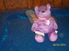 REMEMBRANCE PURPLE KELLY TEDDY BEAR PLUSH BEAN BAG BUTTERFLY WINGS