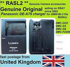 Genuine  PANASONIC DE-A79 Charger DMW-BLC12e DMC-G6 DMC-GH2 DMC-G5 DMC-FZ200