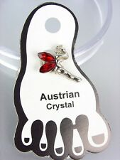 ADORABLE Red Austrian Crystal TINKERBELL Invisible PETITE Toe Ring